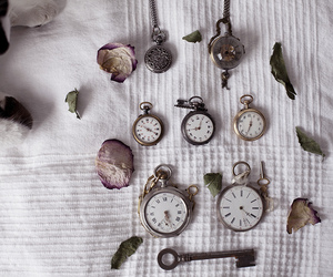 antique, clocks, and pocket watch image