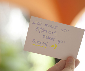 quote, special, and different image