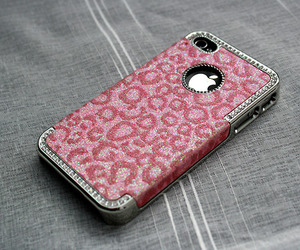apple, case, and pink image