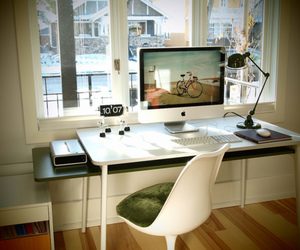 apple, computer, and decor image