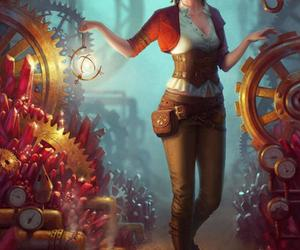 girl, art, and steampunk image