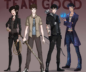 magnus bane, alec lightwood, and simon lewis image