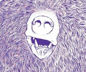 animal, drawing, and bear image