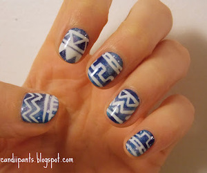 nails, tribal, and cute image