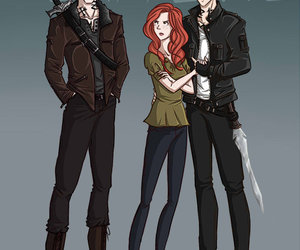 jace, clary, and sebastian image
