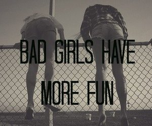 girl, fun, and bad image