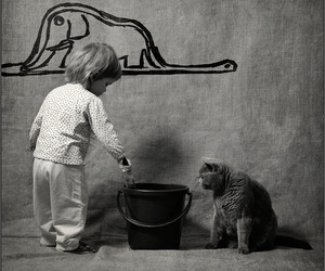 cat, elephant, and kids image