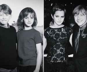 black and white, emma, and rupert image