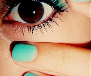 blue, nails, and cute image