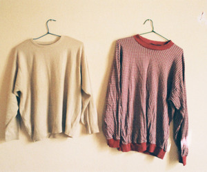 indie, jumper, and red image