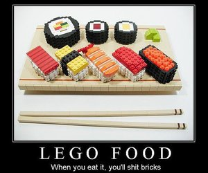 lego, food, and sushi image