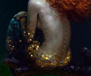 beautiful and mermaid image