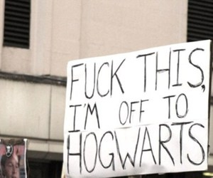 funny, hogwarts, and sign image