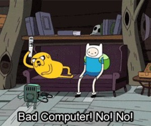adventure time, computer, and finn image