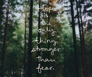 hope, fear, and quotes image