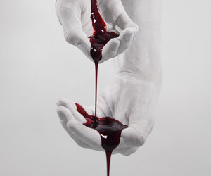 blood, hands, and red image