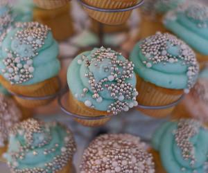 cupcake, blue, and yummy image