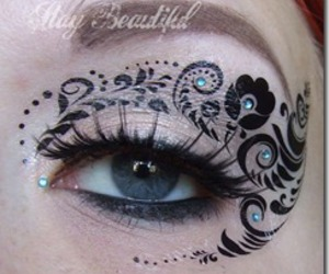 cosmetic, design, and eyeliner image
