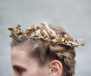 crown, gold, and hair image