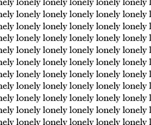 lonely and text image