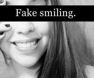 smile, fake, and smiling image