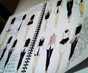 fashion, design, and drawing image