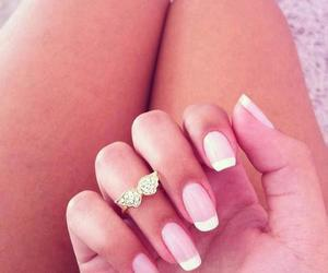 nails, girl, and ring image