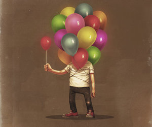 balloons, design, and joy image