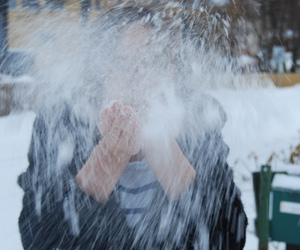 black, blow, and snow image