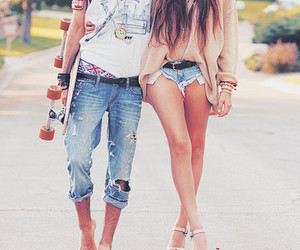 beautiful, jeans, and skate image