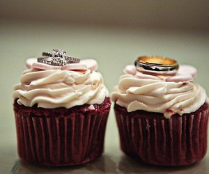 cupcakes, red velvet, and love image