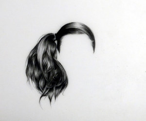 hair, girl, and illustration image