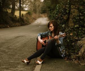 girl, guitar, and photography image