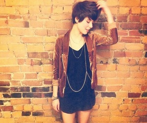 girl, pixie cut, and short hair image