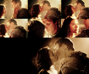 merlin, angel coulby, and artur & gwen image