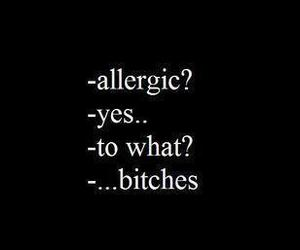 :p, allergic, and bitches image