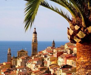 france, travel, and menton image