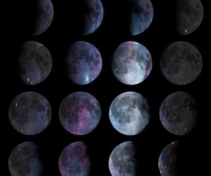 colors, moon, and nature image