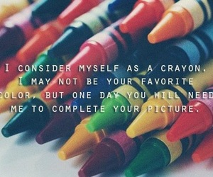 quote, color, and crayon image