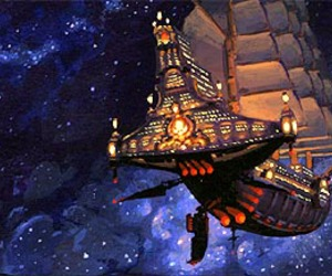 space, treasure planet, and flying boat image