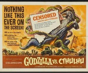 cthulhu, Godzilla, and mashup image
