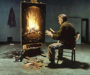art, fire, and painting image