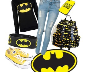 all stars, backpack, and batman image