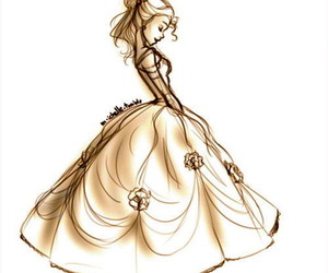 princess, drawing, and belle image