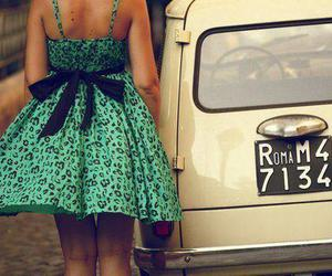dress, girl, and car image
