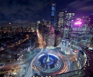 at night, big apple, and canon image