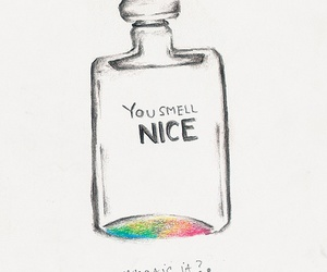 perfume, drawing, and smell image