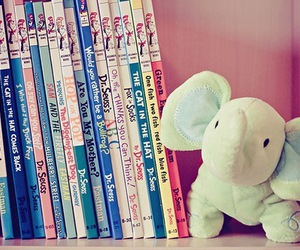 book, cute, and elephant image