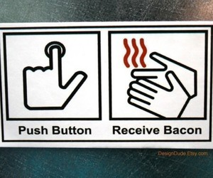 bacon, cool, and funny image