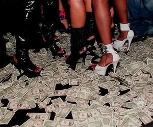 money, shoes, and party image